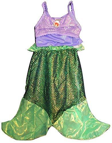 DISNEY PARKS AUTHENTIC ARIEL COSTUME - LITTLE MERMAID - 2 PC (7/8 Medium) (Easy Disney Costume)