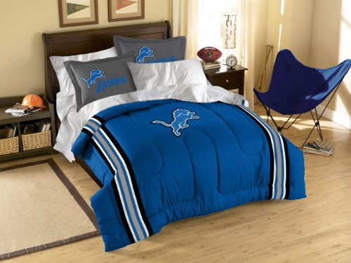 NFL Detroit Lions Twin/Full Size Comforter with Sham Set