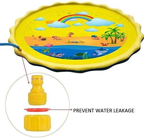 噴水マット大スプリンクラーパッド浅いプール、インフレータブルポータブル外の水のおもちゃ、子供と大人のための夏のおもちゃ