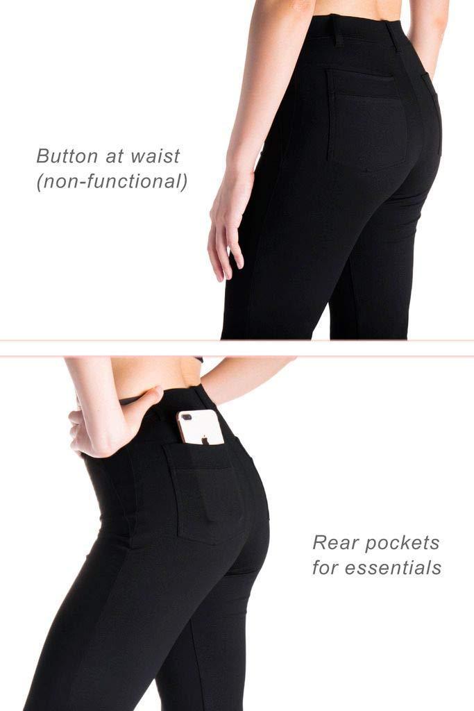 Yogipace,Belt Loops,Womens Petite//Regular//Tall Straight Leg Yoga Dress Pants