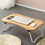 PM Folding tables Tables Folding Laptop Desk Table Stand, Computer Laptop Stand,Foldable Breakfast Tray,Study Desk,Lazy Table Bed Desk,Portable Folding (Color : E-583827)