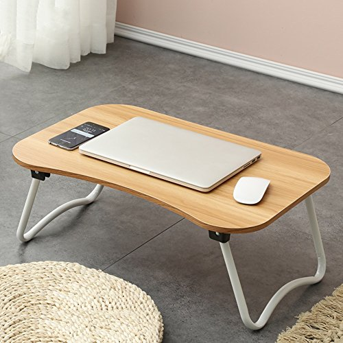 PM Folding tables Tables Folding Laptop Desk Table Stand, Computer Laptop Stand,Foldable Breakfast Tray,Study Desk,Lazy Table Bed Desk,Portable Folding (Color : E-583827) by PM Folding tables