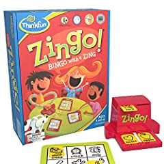 Zingo is one of ThinkFun's most popular and bestselling games, and is the winner of an Oppenheim Gold Award and Parents' Choice Gold Award, among others. It's a fun pre-reading game for ages 4 and up, and is one of the best gifts you can buy ...