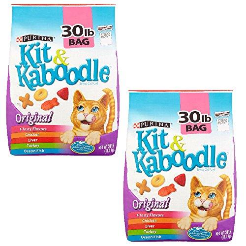 Purina Kit & Kaboodle, Dry Cat Food, Original, 30 Lb Bag ...
