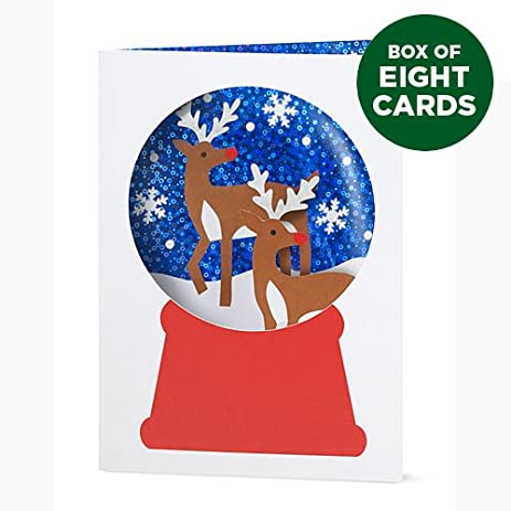 Amazon moma 3d pop up christmas cards snowy reindeer box moma 3d pop up christmas cards snowy reindeer box of 8 m4hsunfo Image collections