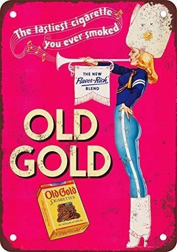 Jacksoney Tin Sign New Aluminum Metal 1939 Old Gold Cigarettes Retro 11.8 x 7.8 Inch