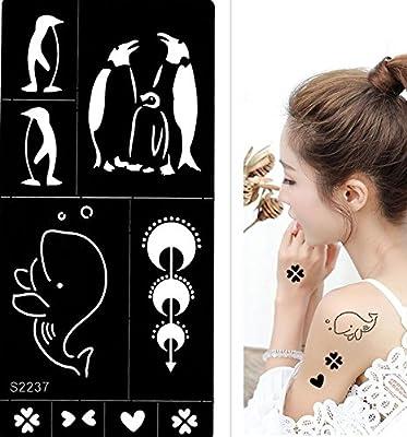 Tattoo Plantilla Pingüino ballena Designs S2237 para pintura ...