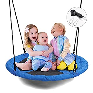 WONDERVIEW Tree Swing, Outdoor Swing with Hanging Strap Kit, 40 Inch Diameter 600lb Weight Capacity, Great for Playground Swing, Backyard and Playroom…