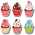 Nourish Cupcake Fridge Magnets