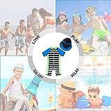 upandfast Kids One Piece Zip Sunsuit with Sun Hat
