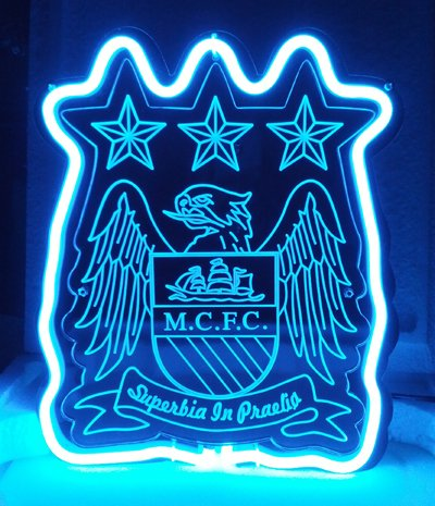 Manch Aster City Neon 3d Neon LED Cartel Cartel: Amazon.es ...
