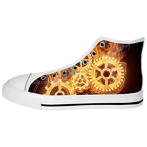 Dalliy feuer feuer Mens Canvas shoes Schuhe Lace-up High-top Sneakers Segeltuchschuhe Leinwand-Schuh-Turnschuhe E