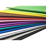 Misscrafts 16pcs 3mm Thick Soild Felt Nonwoven Fabric Sheet Pack DIY Craft Patchwork Sewing Squares Assorted Colors