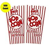Concession Express 500 Count 44E Open Top Popcorn Scoop Boxes (500 Pack)
