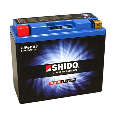 Lithium Battery Shido LT14B/YT14B-BS BS, 12V/AH (Dimensions: 150X70X145)...