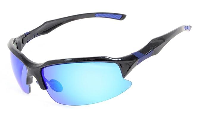 Eyekepper Polycarbonat Polarized TR90 Unbreakable Sport Sonnenbrillen Für Männer Frauen Baseball Running Angeln Fahren Golf Softball Wandern, Black/Grey Lens, One Size