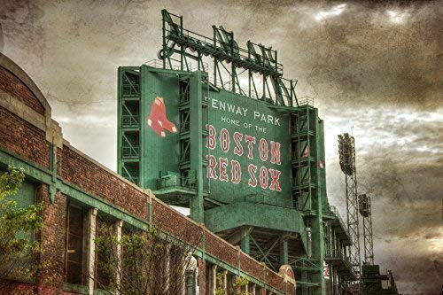 Boston Red Sox Fenway Park Scoreboard Art Print ()