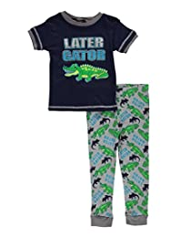 "Mac Henry Little Boys' ""Later Gator"" 2-Piece Pajamas"