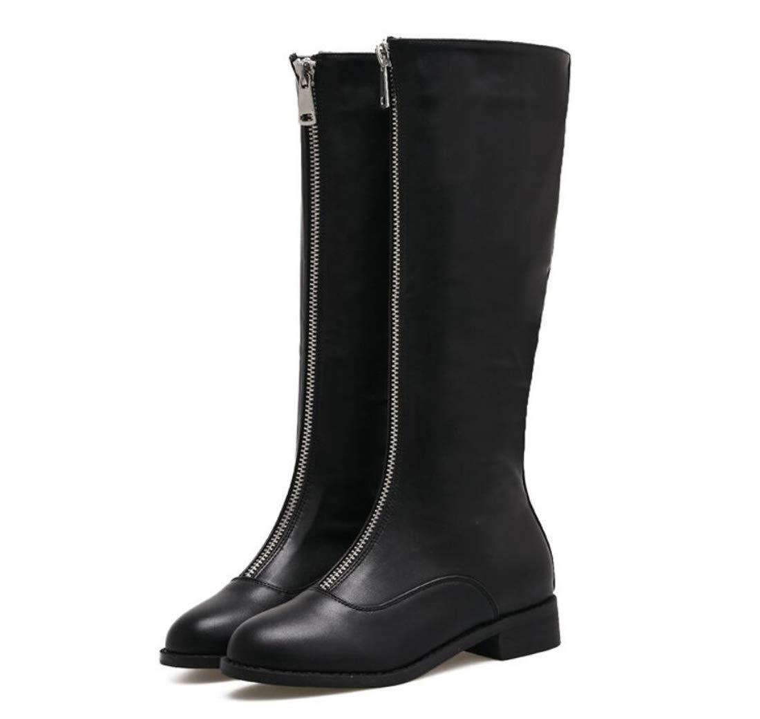 DANDANJIE damen Stiefel Herbst & Winter High-Top Low Heel Martin Martin Martin Stiefel Reißverschluss-Mode Schuhe 914651
