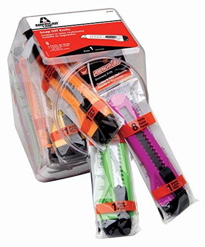 ASR 66-0456 8-Point Neon Breakaway Knife Bucket (Pack of 25)