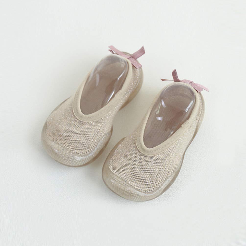 Yeeyuan Atmungsaktiv Anti Rutsch Babysocken Einfarbig Kleinkindsocken mit Gummisohle Stricken Babysocken Bodensocken f/ür Baby Junge M/ädchen