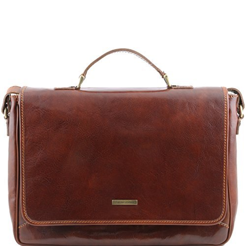 Tuscany Leather Padova Exclusive leather laptop case Brown