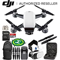 DJI Spark Portable Mini Drone Quadcopter (Alpine White) EVERYTHING YOU NEED Starter Bundle
