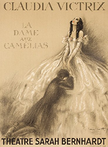 Theatre Sarah Bernhardt - La Dame aux Camelias Vintage Poster (artist: Icart) France c. 1933 (12x18 SIGNED Print Master Art Print w/ Certificate of Authenticity - Wall Decor Travel Poster)