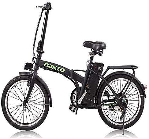 NAKTO 20 250W Foldaway Electric Bike Sport Mountain Ebike with Remove 36V10A Lithium Battery
