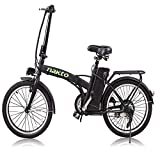 NAKTO 20' 250W Foldaway Electric Bike Sport Mountain Ebike with Remove 36V10A Lithium Battery