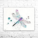 Dragonfly Watercolor Print,Dragonfly Art ,animal watercolor, watercolor painting, animal art, Insect art, Dragonfly PRINT