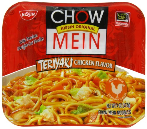 Nissin Chow Mein Teriyaki, Chicken, 4 Ounce (Pack of 8) by Nissin