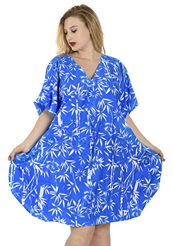 La Leela Women's Casual Hibiscus Palm Tree Bamboo Leaf Floral Flower Vintage Casual Office Beach (Bamboo Vintage Blouse)