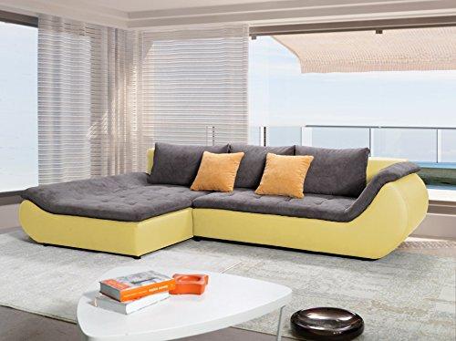 Designer couch stoff  Rabatti Prima Ecksofa Couch mit Schlaffunktion, Schlafsofa Luxus ...