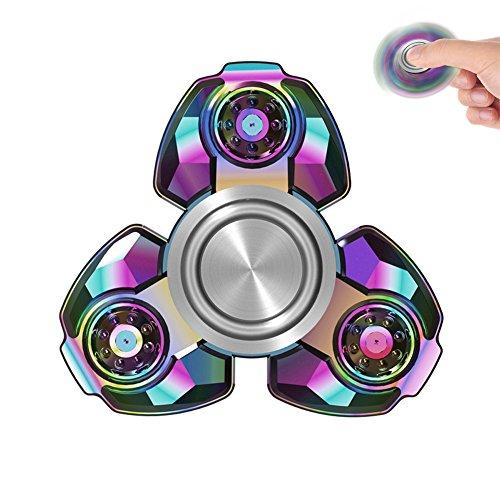 Tri Rainbow Fidget Spinner Metal Hand Spinner EDC Focus Stress Reducer Toy Hi-Q (rainbow1)