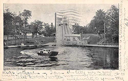North Beach New York Amusement Park The Chutes Vintage Postcard JI658300
