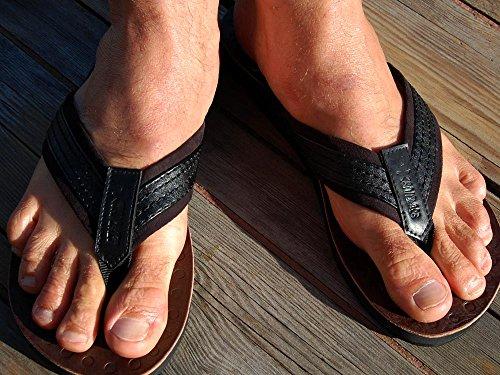 Sandalias negro para Piel de Seestern Sportswear hombre z7xqwBf1C