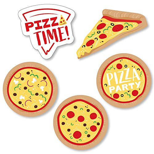 Big Dot of Happiness Pizza Party Time - DIY Shaped Baby Shower or Birthday Party Cut-Outs - 24 Count