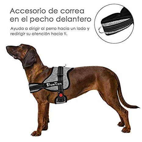 SlowTon Sin tirones Arnés de Perro, Suave Malla Acolchada ...