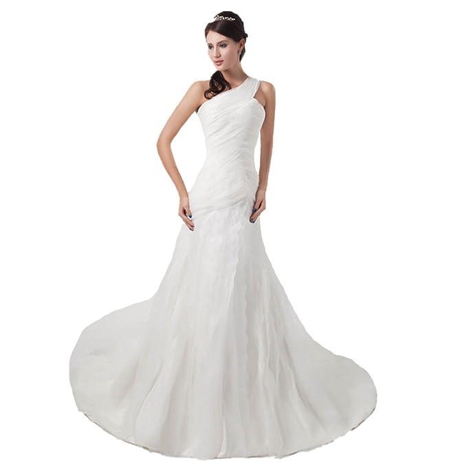wholesale dealer fe867 03b9a Jspoir Melodiz - Abito da sposa - Monospalla - Donna White ...