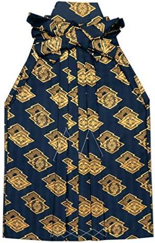 七五三 袴 5歳 男の子 金襴生地の袴 60cm 単品 合繊「青紺 菱」OHB60-1731tan