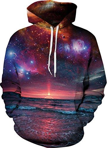 Imprimé … Unisexe shirt 3d Soleil Couchant Capuche Yuanyan Galaxy Sweater Sweat Alien Pull wqz6xSvI