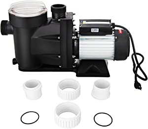 Anbull 1.5HP Swimming Pool Pump, 1100W In/Above Ground Pool Pump with 59.05'' Electric Cord, High Efficiency and Low Noise, Apply to Water Circulation in Filtration System (110-120V/60HZ)