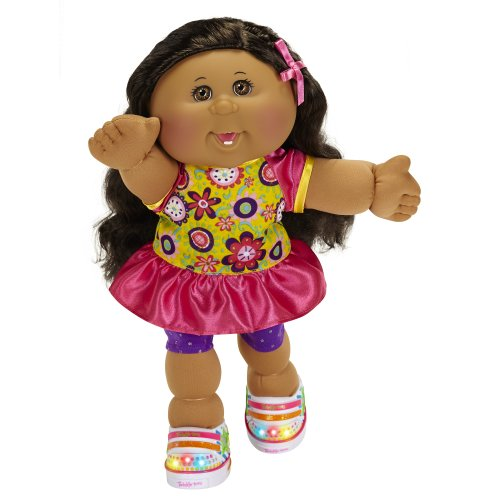 - Cabbage Patch Kids Twinkle Toes: A/A Girl Doll, Black Hair, Brown Eyes
