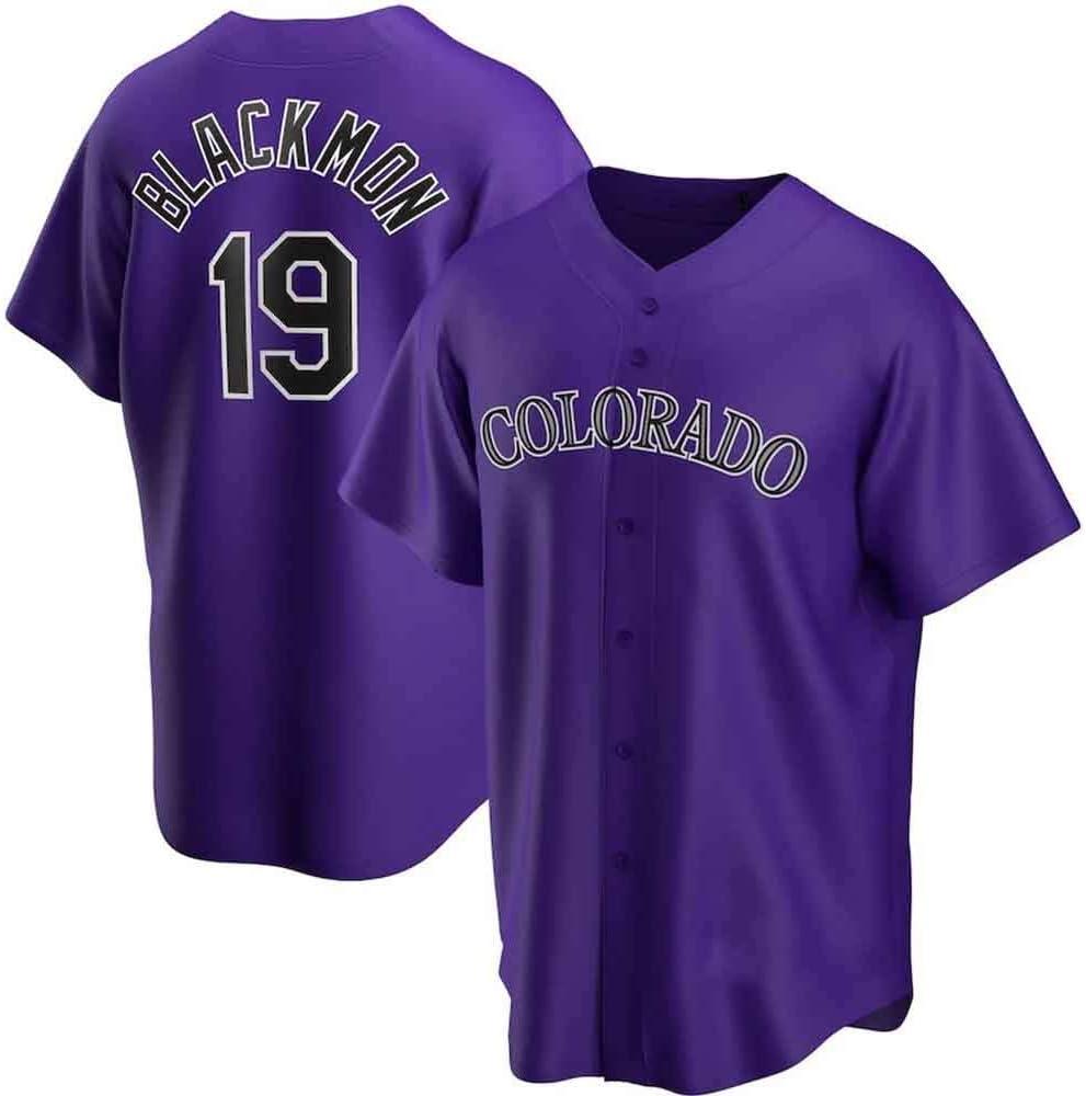 GMRZ Camiseta MLB Hombre Beisbol Jersey con Colorado Rockies # 19 Blackmon Dise/ño Logo Ropa Deportiva Equipo De B/éisbol De Grandes Ligas Fans Shirt Camisa Manga Corta Unisexo