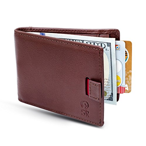 Smiling Rhino Minimalist Leather Wallet for Men