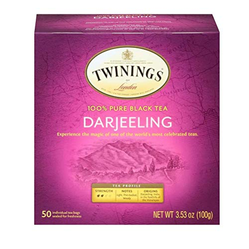 - Twinings of London Darjeeling Tea Bags, 50 Count (Pack of 3)