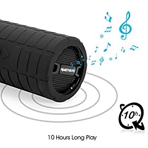 Portable Bluetooth Speaker Box, MakeTheOne Shockproof and Waterproof Mountain Bike Bicycle Wireless Speaker with HiFi Bass for iPhone Samsung Smart Phone and Tablet (Black)