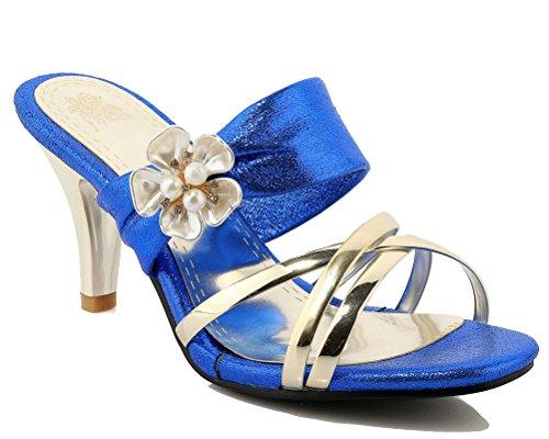HiTime Mules Femme Mules HiTime Bleu Femme Bleu Femme HiTime HiTime Bleu Mules Hng6F0dxwn