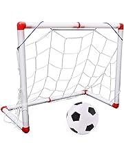 Nany, Porta da Calcio per Bambini con Porta da Calcio per Interni ed Esterni, Set con Pompa per palloni da 56 cm